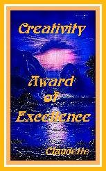 Claudette's Creativity Award